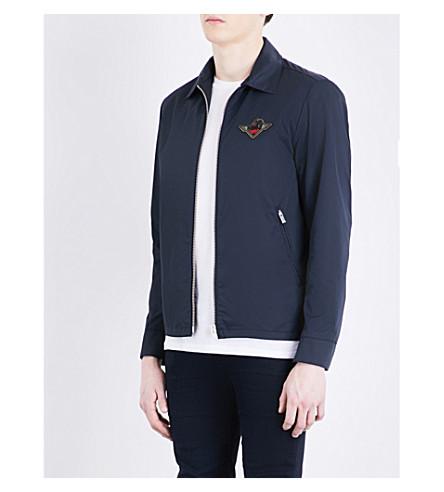 THE KOOPLES SPORT Embroidered cotton-blend jacket (Blu88