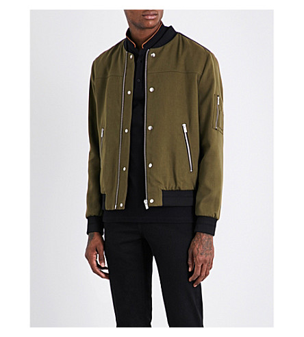 THE KOOPLES SPORT Teddy-collar cotton-blend bomber jacket (Kak01