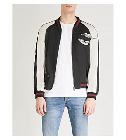 THE KOOPLES Embroidered satin bomber jacket (Bla01
