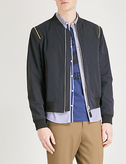 THE KOOPLES Zip-detail shell bomber jacket