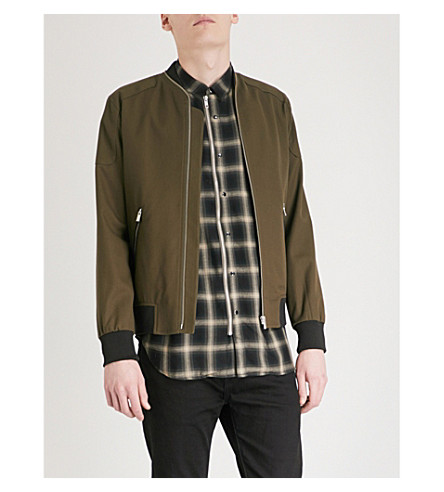 THE KOOPLES Shoulder patch stretch-cotton bomber jacket (Kak01