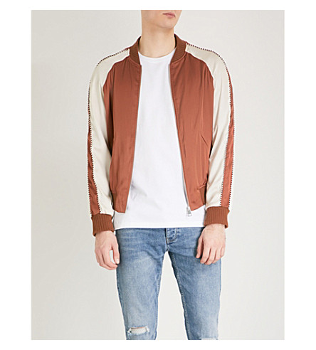 THE KOOPLES Piped satin bomber jacket (Cam10