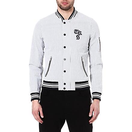 THE KOOPLES SPORT Seersucker teddy jacket (Black / white
