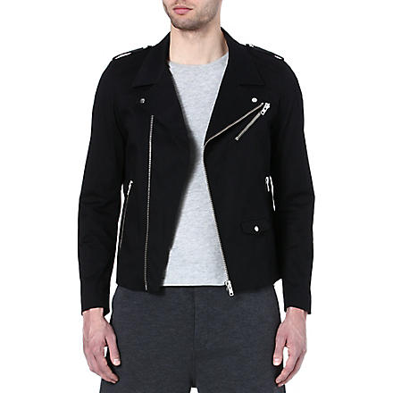 THE KOOPLES SPORT Canvas biker jacket (Black