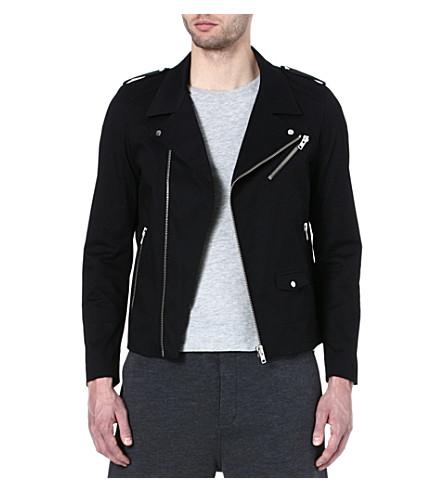 THE KOOPLES SPORT Canvas biker jacket (Black