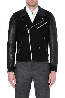 THE KOOPLES SPORT Panelled leather jacket