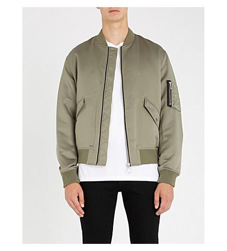 THE KOOPLES Lining-print satin bomber jacket (Kak01