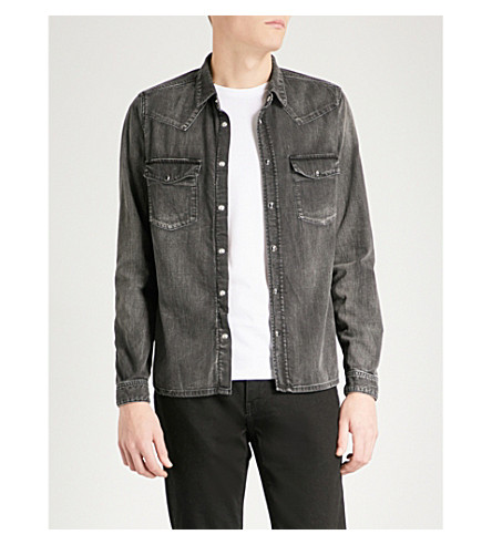 THE KOOPLES Fitted denim shirt (Bla55