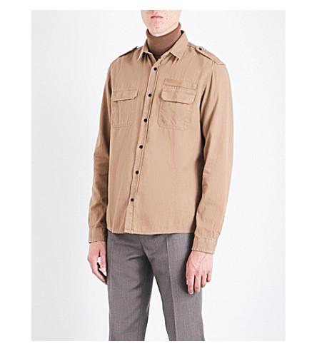 THE KOOPLES SPORT Slim-fit cotton shirt (Cam01