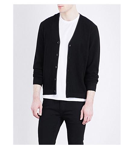 THE KOOPLES V-neck knitted cashmere cardigan (Bla01