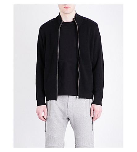 THE KOOPLES SPORT Zipped wool-blend cardigan (Bla01