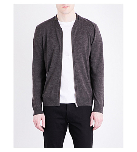 THE KOOPLES SPORT Zipped merino wool cardigan (Kak01