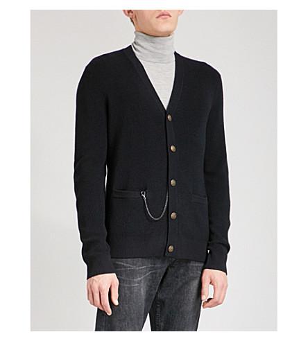 THE KOOPLES Chain-detail wool cardigan (Nav01