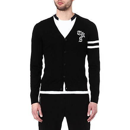 THE KOOPLES SPORT Varsity style cardigan (Black-ecru