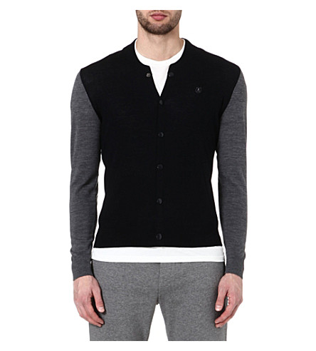 THE KOOPLES SPORT Teddy-style cardigan (Dark navy / silver