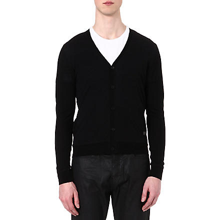 THE KOOPLES V-neck merino wool jumper (Black