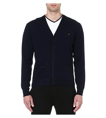 THE KOOPLES SPORT Wool v-neck cardigan (Navy