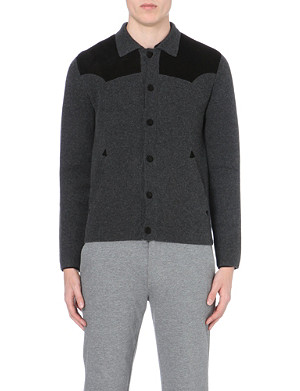 THE KOOPLES SPORT Milano stitch cotton-wool knitted cardigan