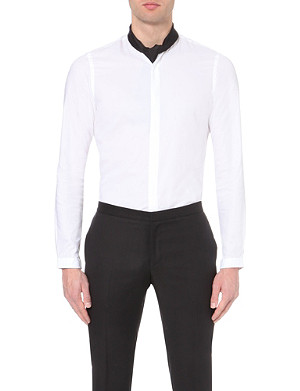 THE KOOPLES Slim-fit collarless cotton shirt