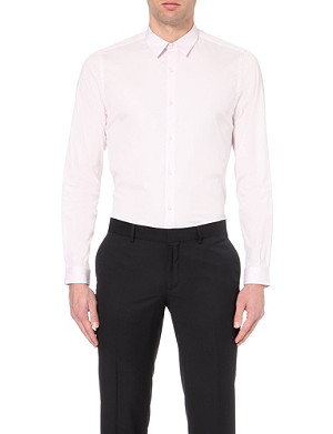 THE KOOPLES Slim-fit straight-point collar cotton shirt
