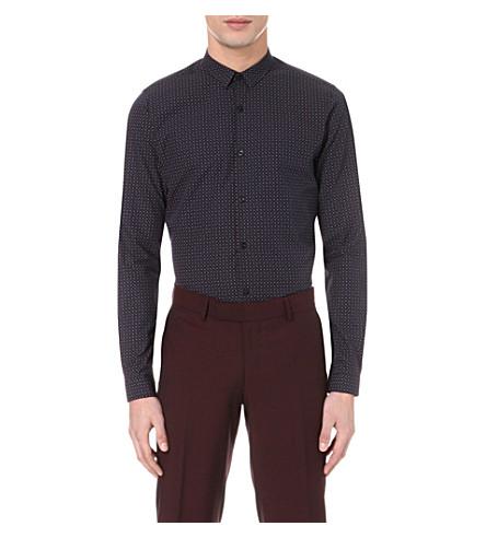 the kooples paisleyprint slimfit cotton shirt