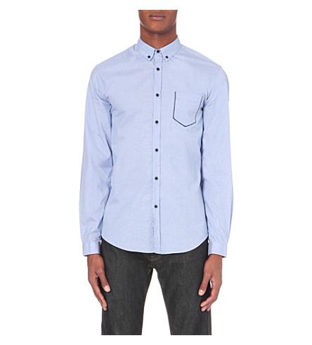THE KOOPLES Contrast pocket trim shirt (Light+blue