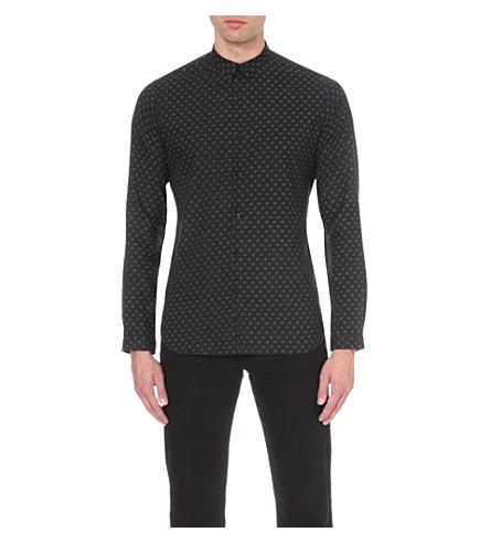 THE KOOPLES Slim-fit cotton shirt (Kaki