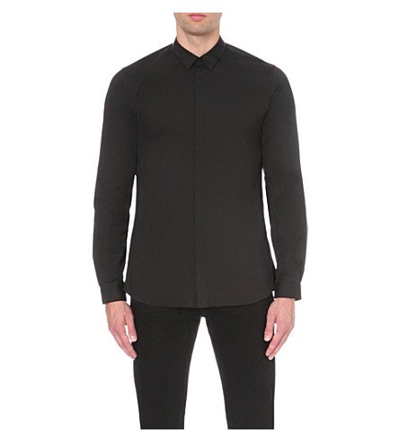 THE KOOPLES Slim-fit cotton shirt (Black