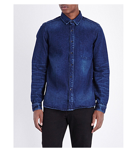 THE KOOPLES Regular-fit denim shirt (Blue