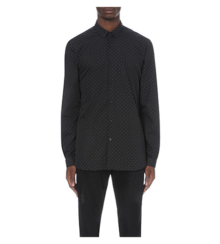 THE KOOPLES Polka dot shirt (Black+/+white
