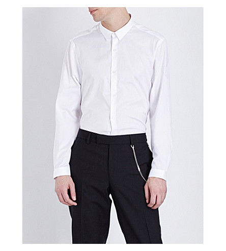 THE KOOPLES Fitted cotton shirt (White