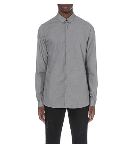 THE KOOPLES Geometric fitted shirt (White-black