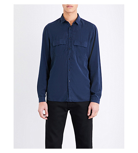 THE KOOPLES Fitted woven shirt (Dark+blue