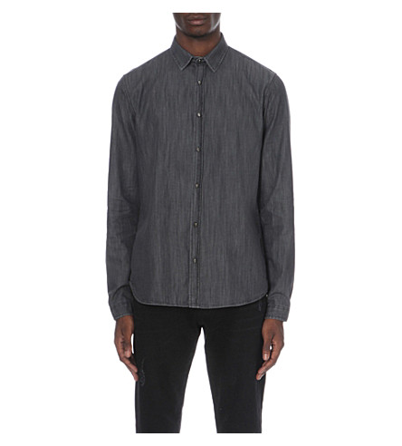 THE KOOPLES Denim skull shirt (Grey