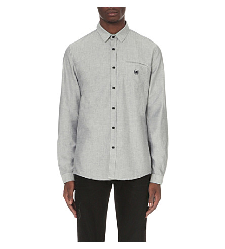 THE KOOPLES Sport cotton shirt (Light+blue