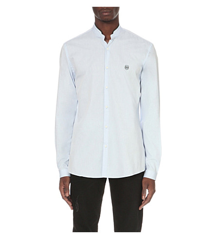 THE KOOPLES Classic-fit cotton shirt (Light+blue