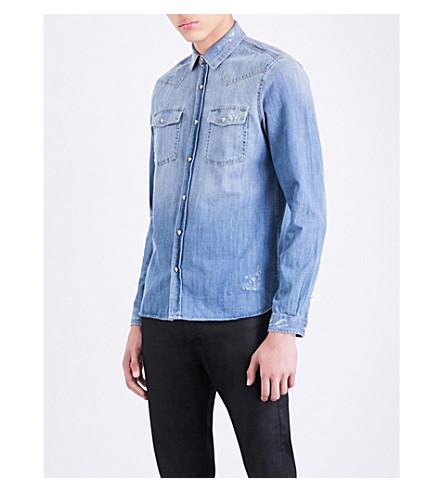 THE KOOPLES Slim-fit denim shirt (Blu01