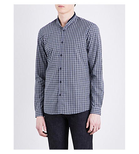 THE KOOPLES SPORT Checked cotton shirt (Yel26
