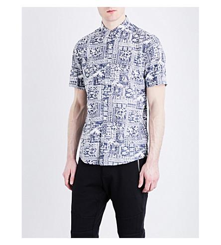 THE KOOPLES SPORT Hawaii cotton-blend shirt (Nav01
