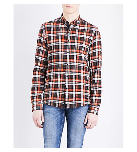 THE KOOPLES SPORT Checked classic-fit stretch-cotton shirt (Ora02