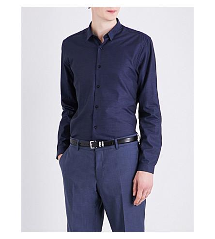 THE KOOPLES Classic-fit diamond cotton shirt (Blu01