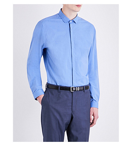 THE KOOPLES Fitted cotton shirt (Blu35
