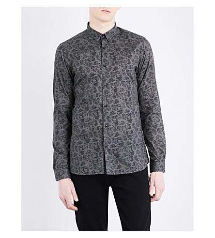 THE KOOPLES Skull-print fitted cotton shirt (Kak01