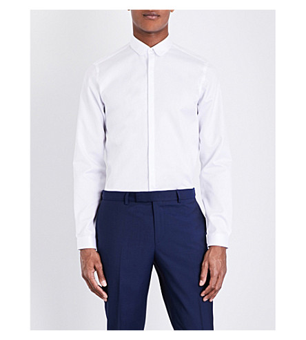 THE KOOPLES Slim-fit cotton shirt (Whi01