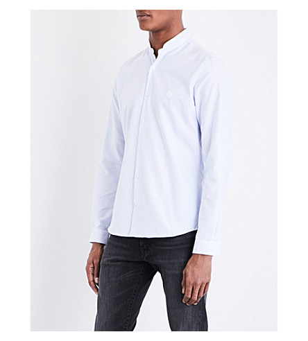 THE KOOPLES SPORT Striped fitted cotton shirt (Blu03