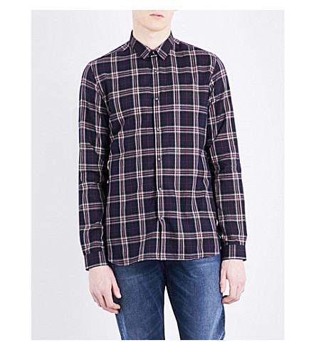THE KOOPLES Skull-buttoned shirt (Blu01