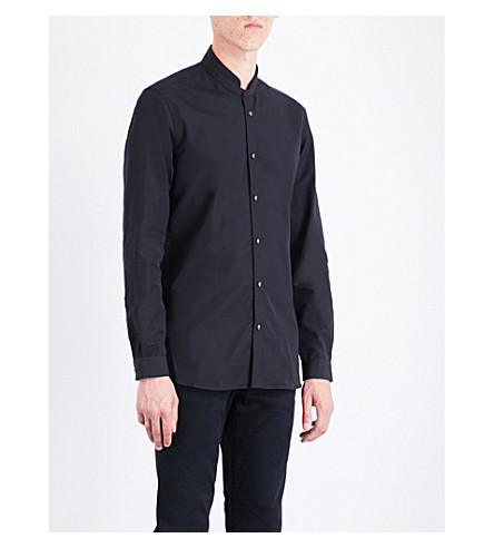 THE KOOPLES Officer-collar slim-fit cotton shirt (Bla01