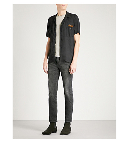 THE KOOPLES Sunrise-embroidered fitted poplin shirt (Bla01