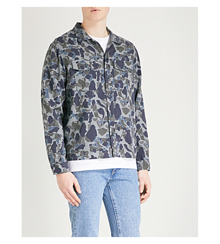 THE KOOPLES Camouflage-print relaxed-fit cotton overshirt (Nav28