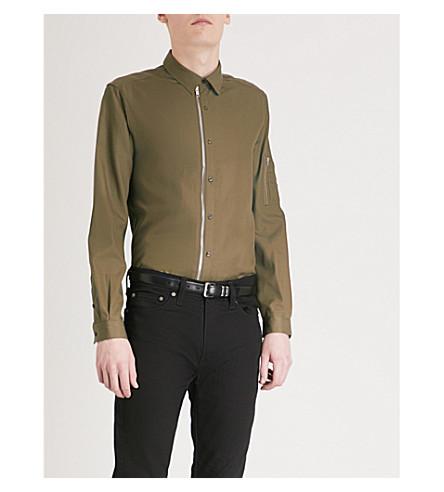 THE KOOPLES Zip-detail fitted woven shirt (Kak01
